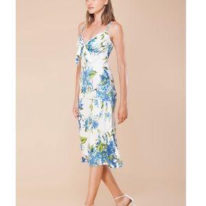 NWT Hale Bob Bina Tie Front Dress Sz XS